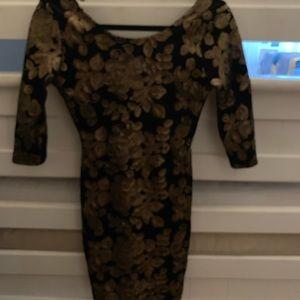 Semi Formal Dress 3/4 Sleeve